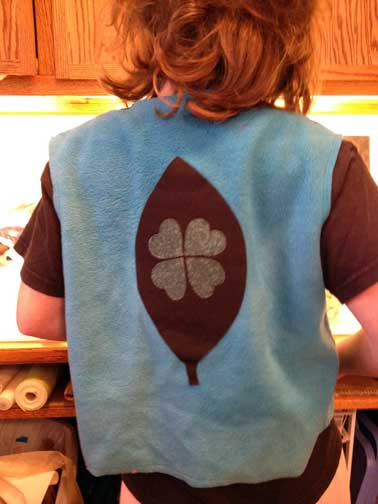 Back picture of the bunny express vest